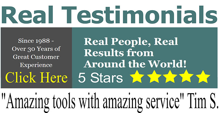 Real Testimonials: 'Amazing tools with amazing service' - Tim S.